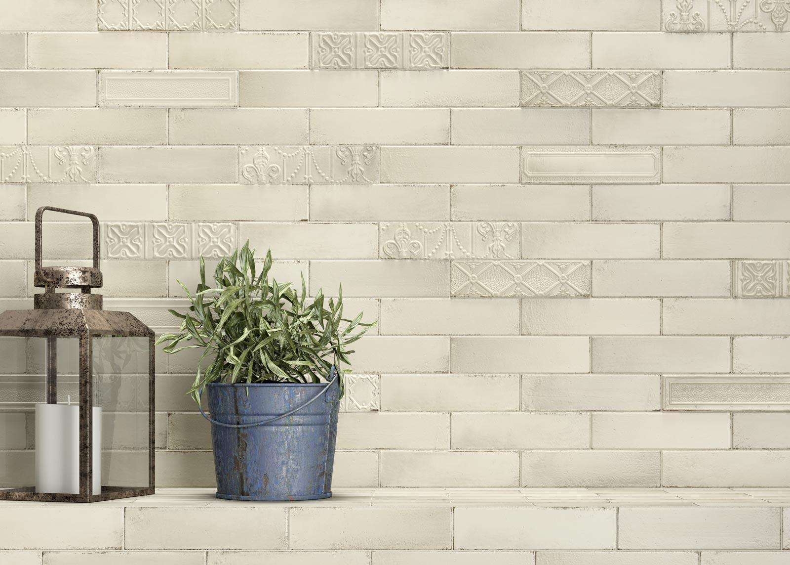 Eden collection majolica effect tiles ragno