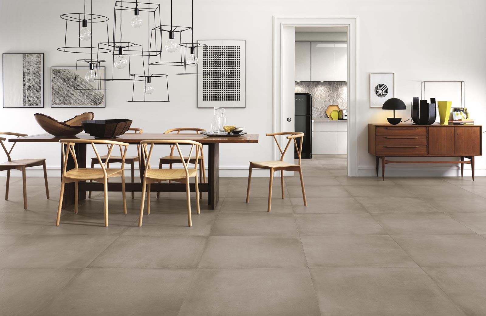 Rewind collection concrete effect porcelain stoneware ragno