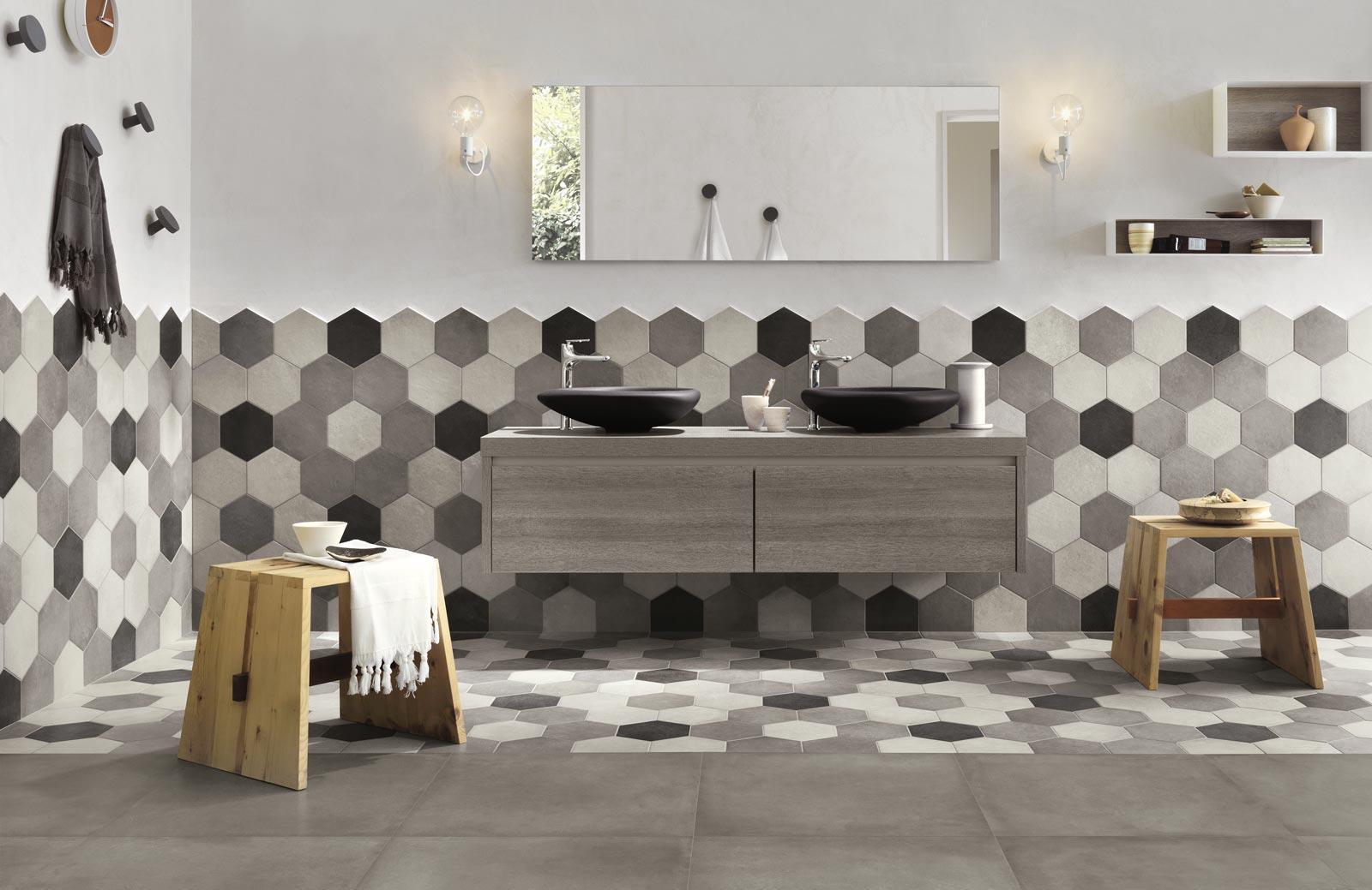 Gres Porcellanato Piastrelle Cucina rewind collection: concrete effect porcelain stoneware | ragno