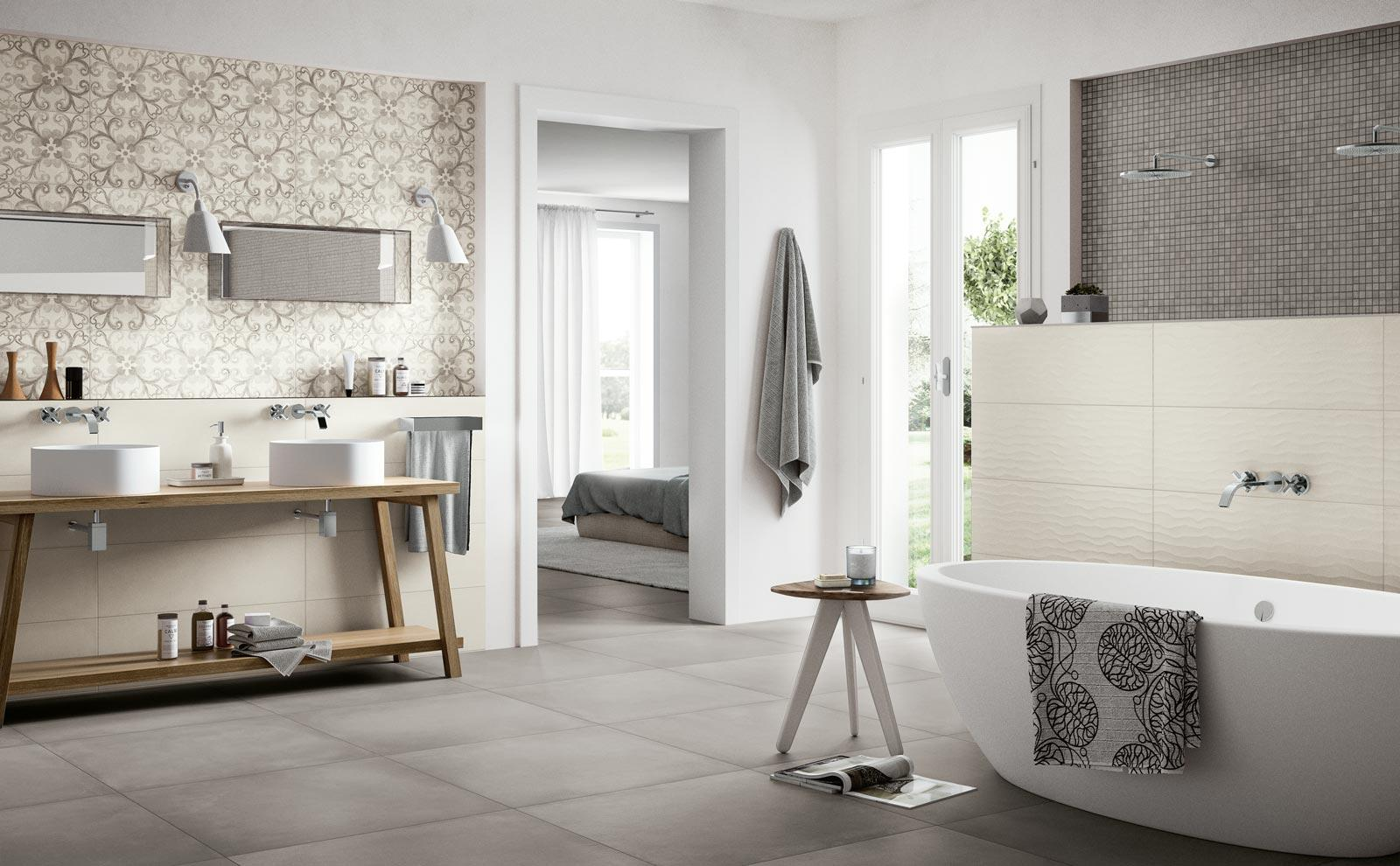 Rewind Wall Collection: terracotta and concrete effect ceramic tiles ...