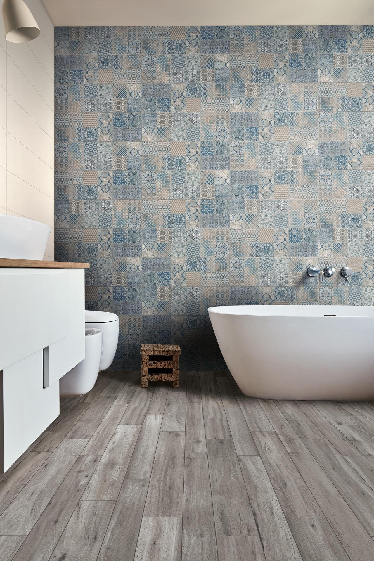 Trama Collection: Fabric-Effect Patterned Wall Tiles | Ragno
