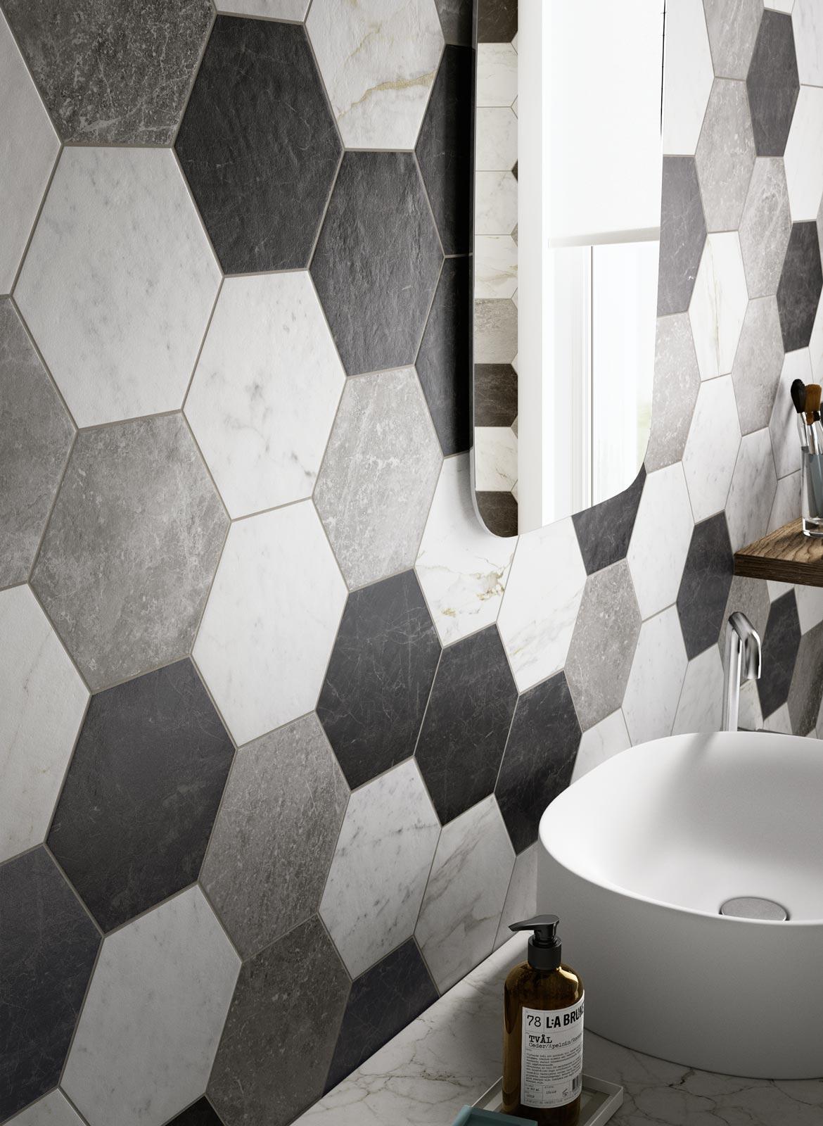Estremamente Hexagon tiles for Home Decoration | Ragno KZ84