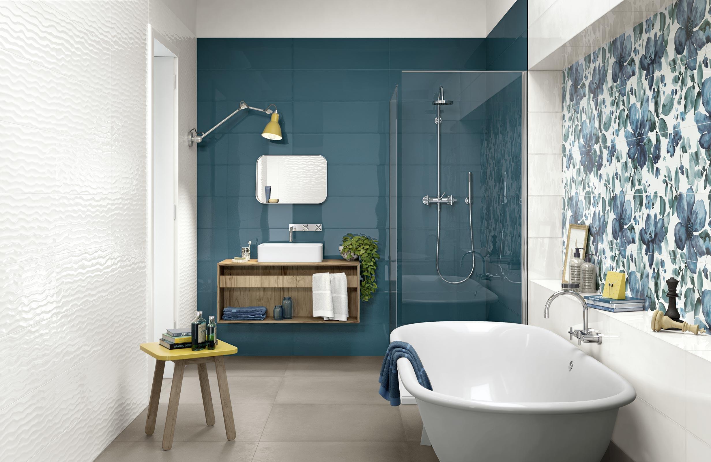 modern bathroom coverings