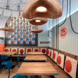 A Mexican mood, sombreros and concrete-effect porcelain stoneware in Prague
