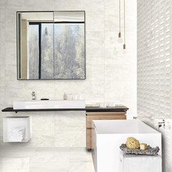 4 ways of choosing the tiles of a white bathroom