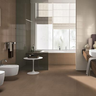 Line Collection White Body Bathroom Wall Tiles Ragno