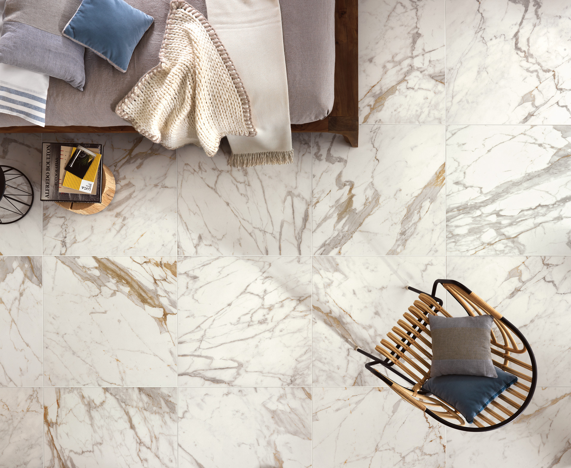 Bistrot collection fine stone and marble effect stoneware for Gres porcellanato carrelage