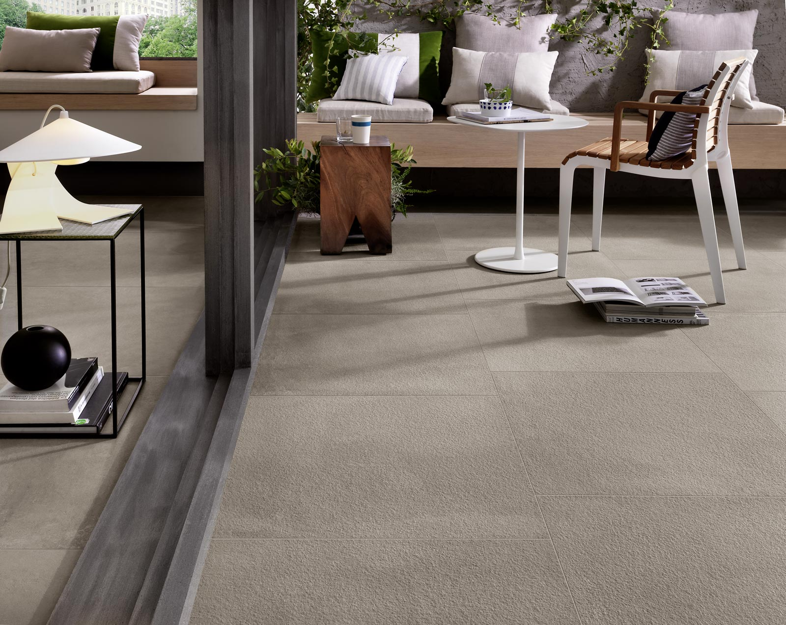 Indoor outdoor flooring and tiles ragno for Indoor outdoor flooring options