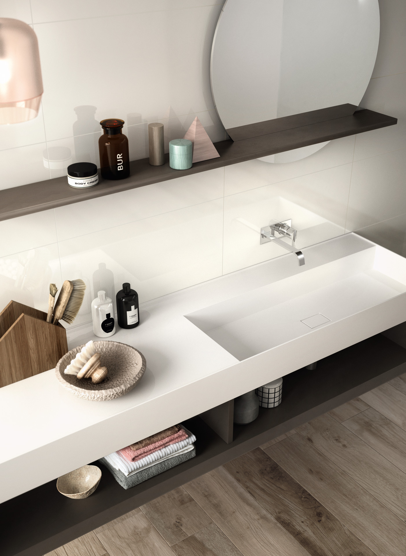Fantasy Collection: White bathroom wall tiles | Ragno