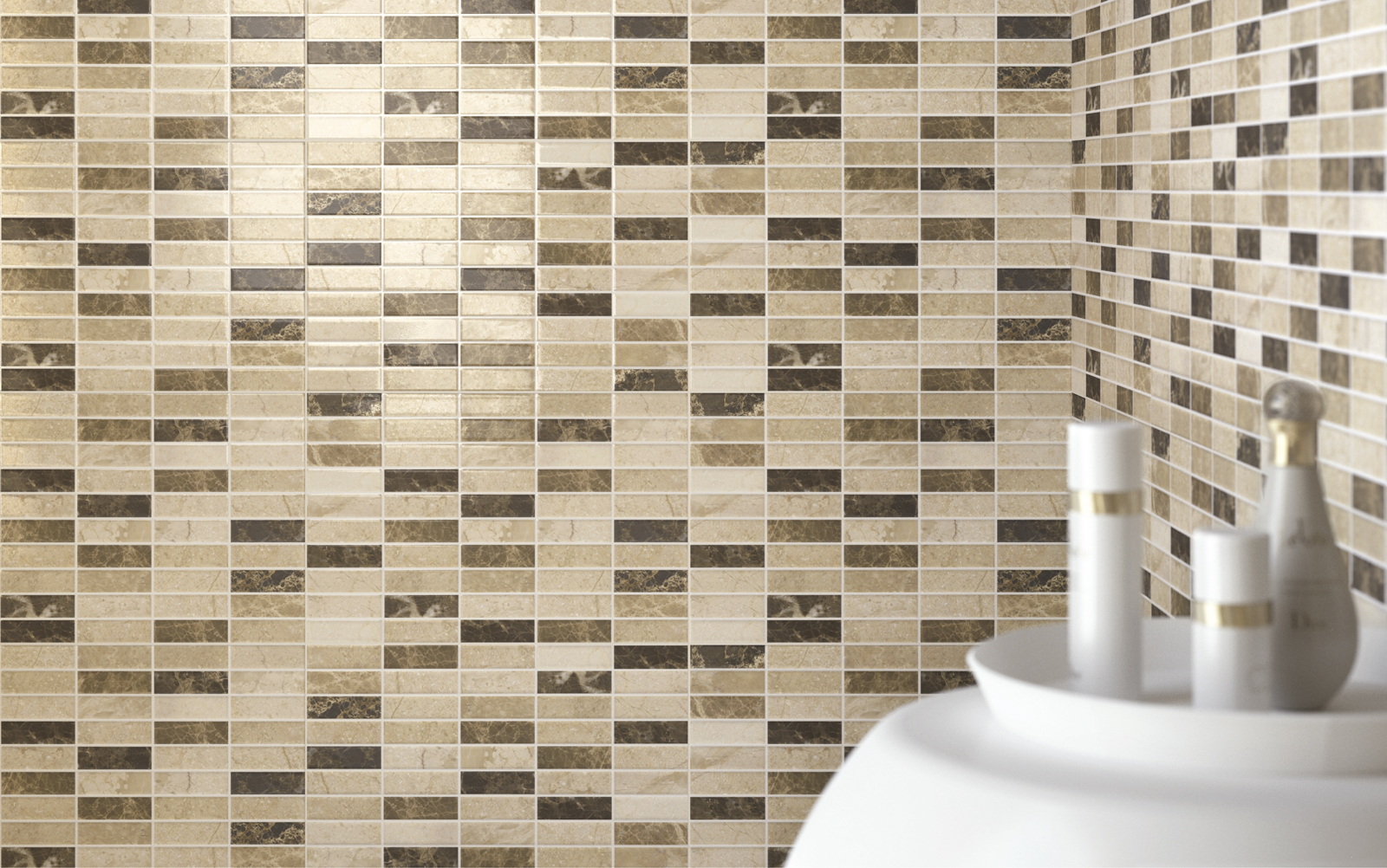 Game collection ceramic mosaic tiles for the home ragno for Piastrelle mosaico bagno adesive
