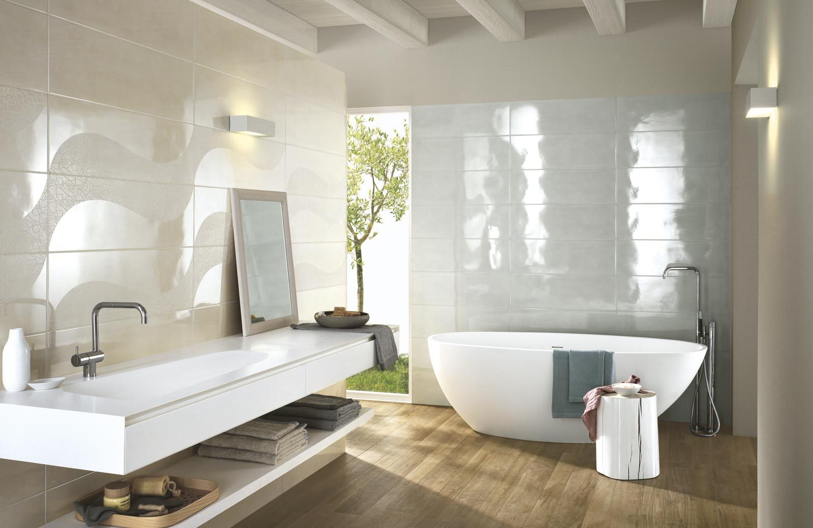 Handmade Collection Gloss Effect Bathroom Walls Ragno