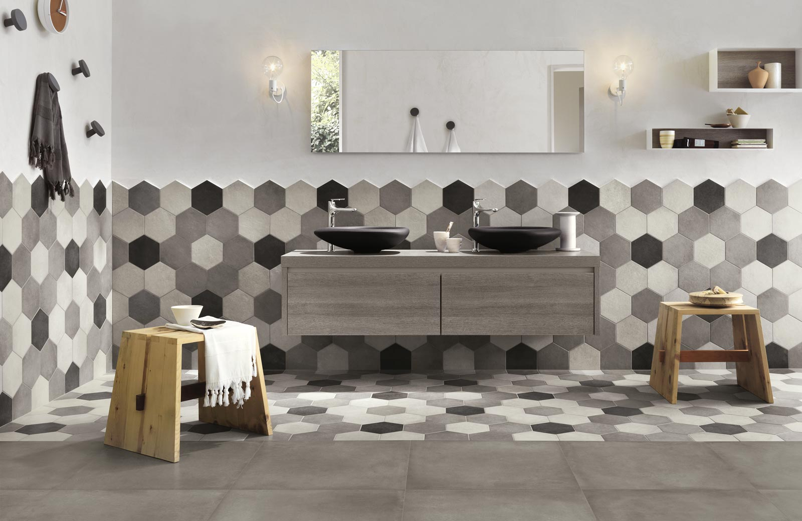 Rewind Collection Concrete Effect Porcelain Stoneware
