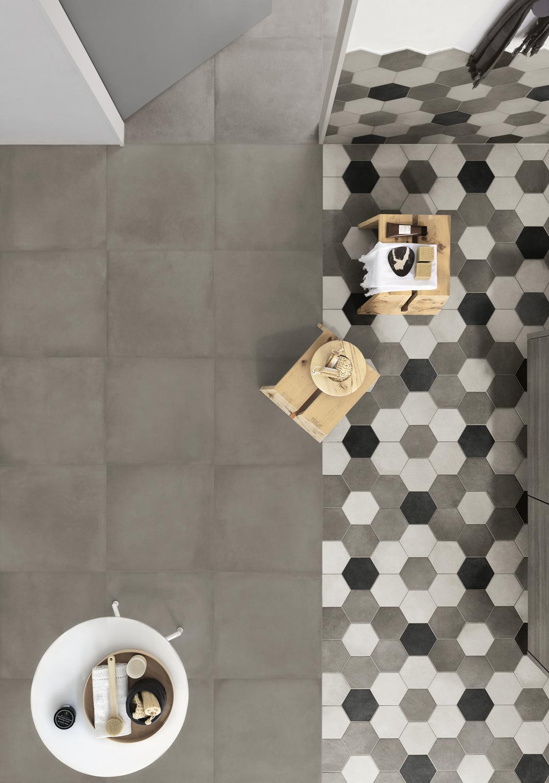 Rewind Collection: Concrete Effect Porcelain Stoneware | Ragno