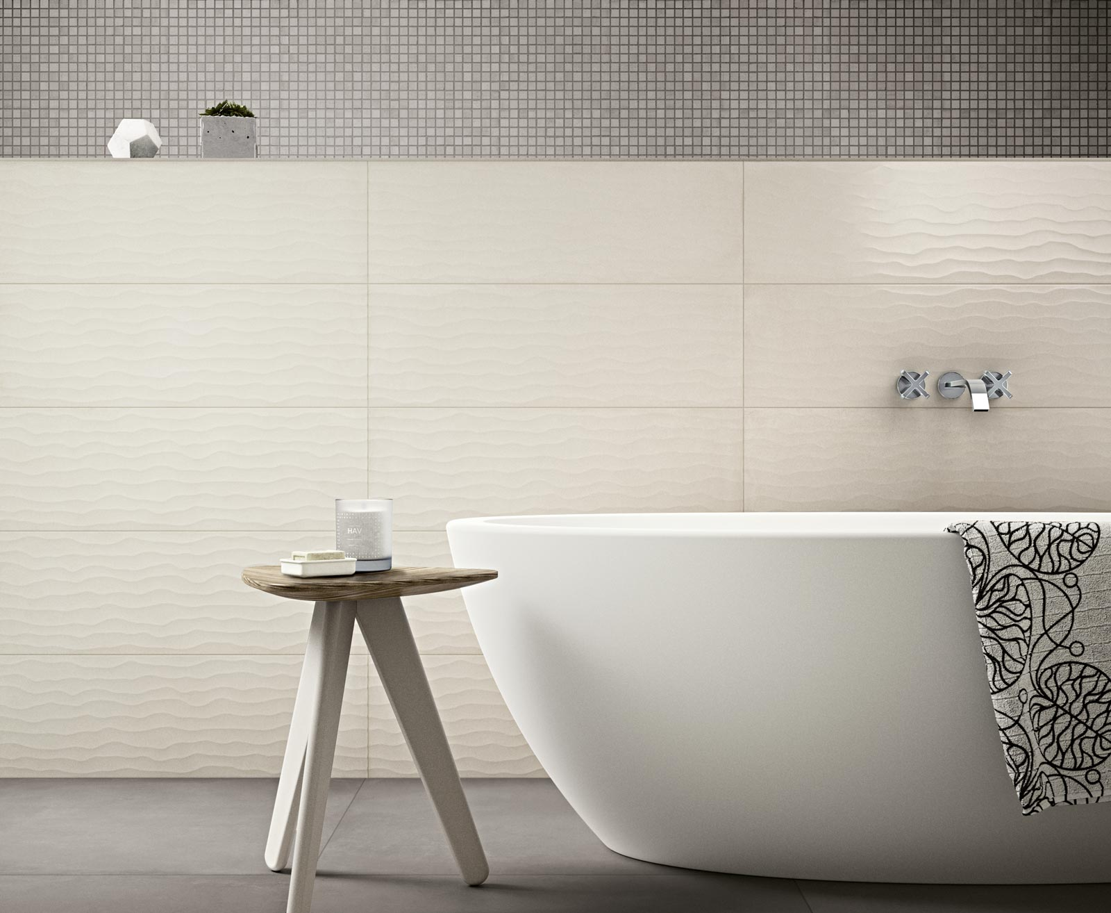 Covering tiles in bathroom - Rewind Wall Collection Terracotta And Concrete Effect