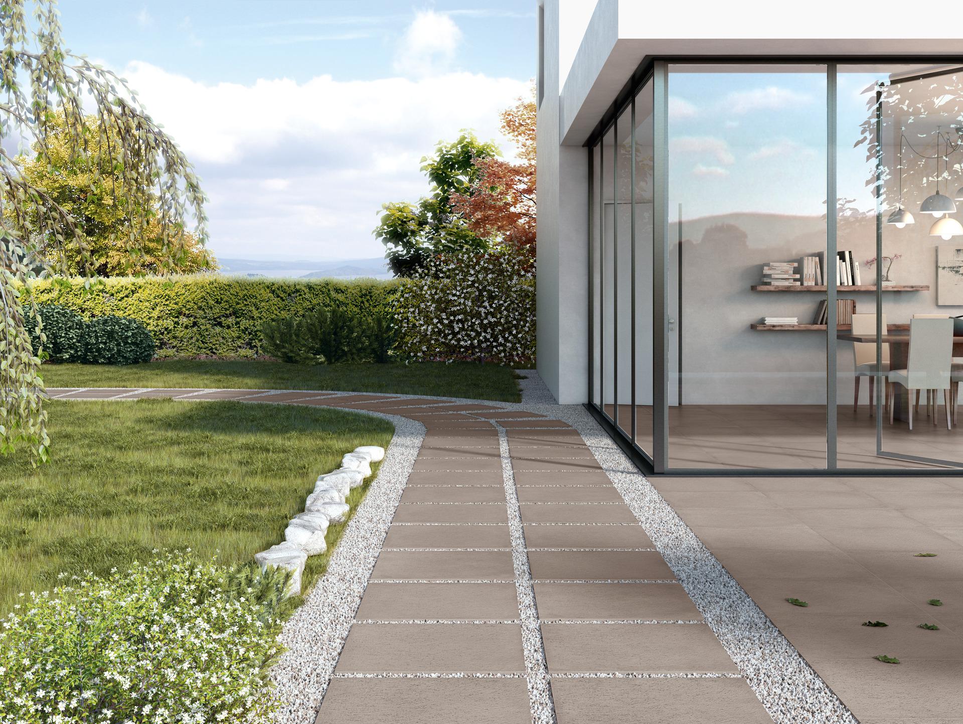 Rewind xt20 collection terracotta concrete effect for Carrelage exterieur 10x20