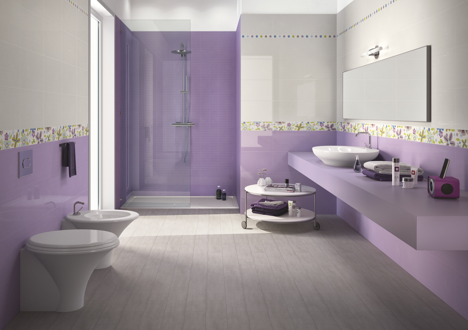 starlight collection pastel coloured ceramic tiles ragno On faience salle de bain violet