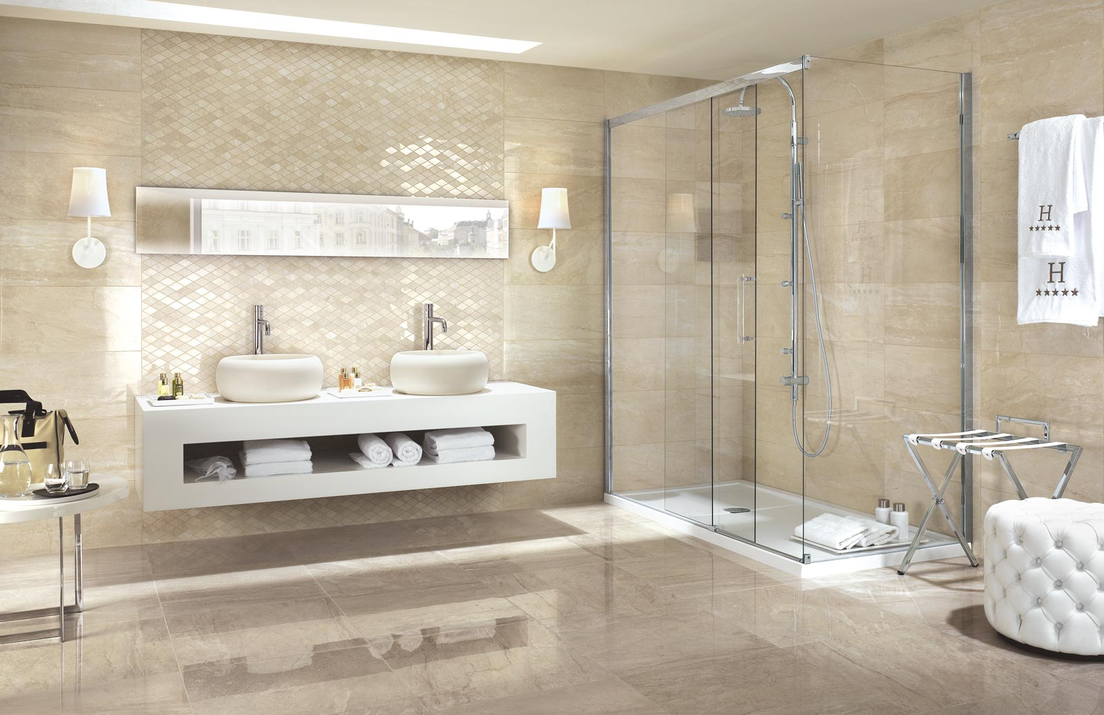 Symphony Collection Marble Effect Stoneware Tiles