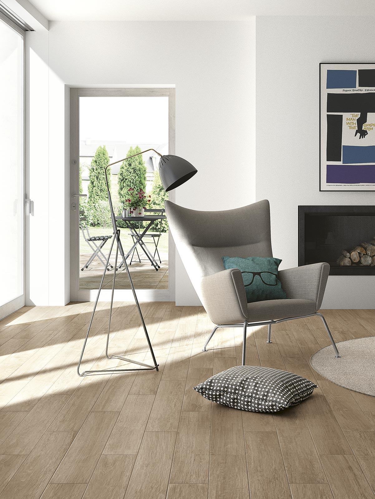 Woodcomfort Collection: wood-look stoneware floor tiles | Ragno