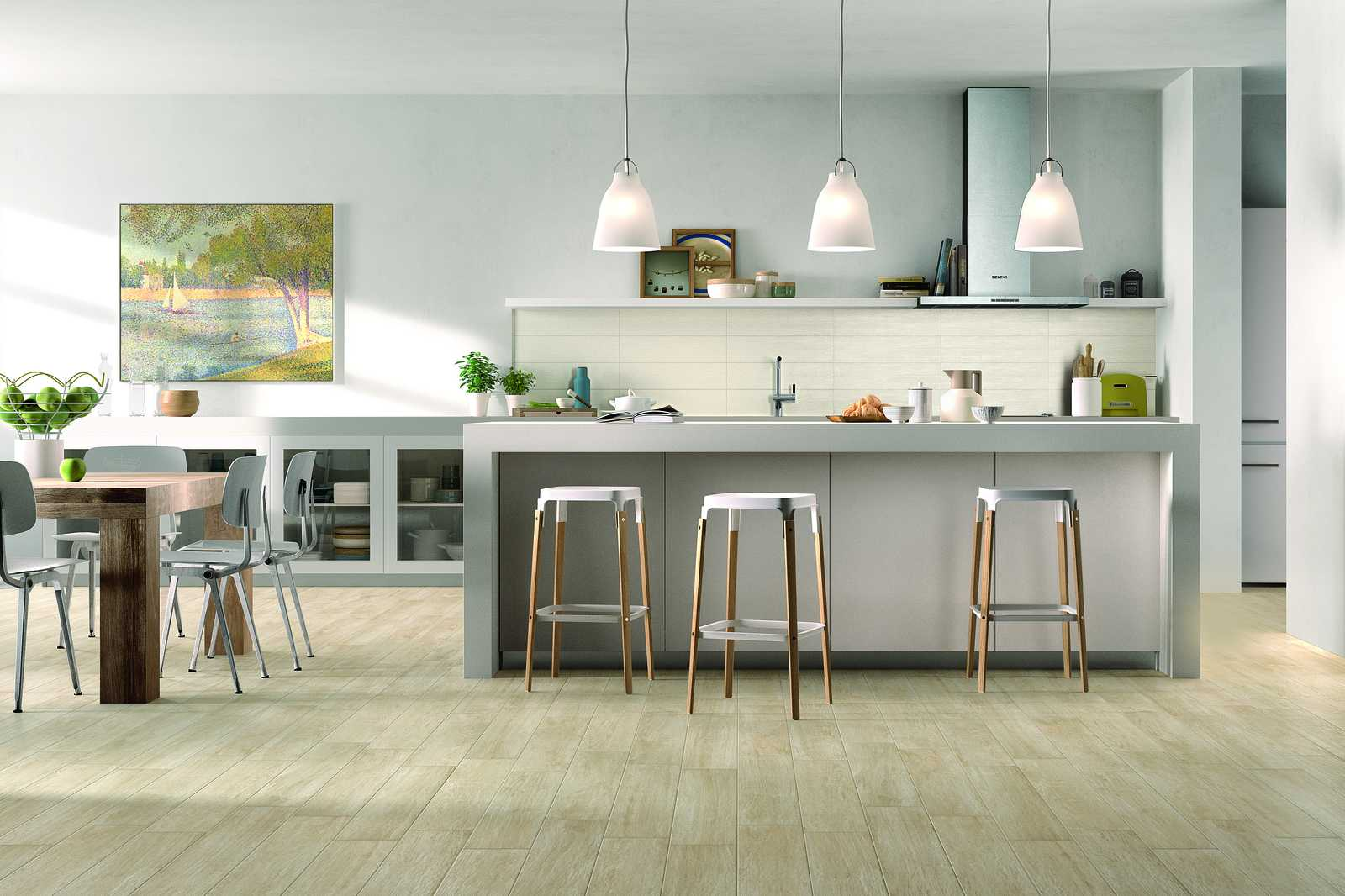 Woodcomfort collection wood look stoneware floor tiles for Gres porcellanato carrelage