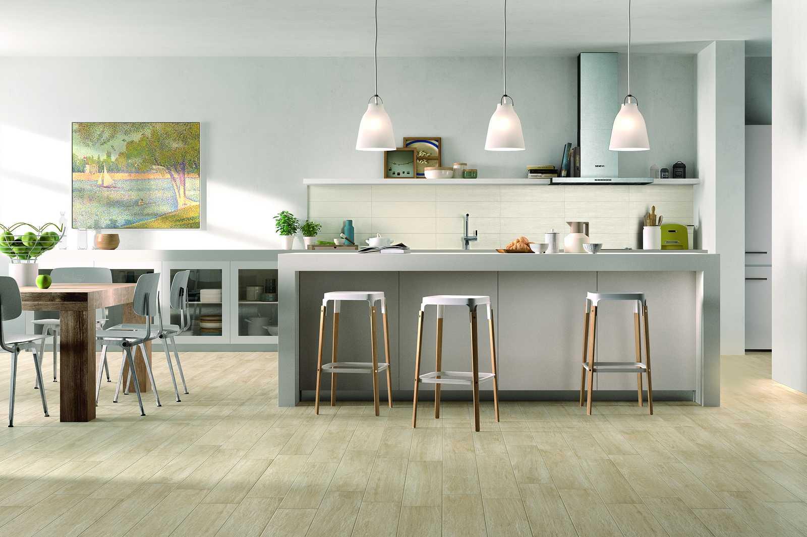 Mattonelle cucina moderna effetto pietra. galleria della piastrella