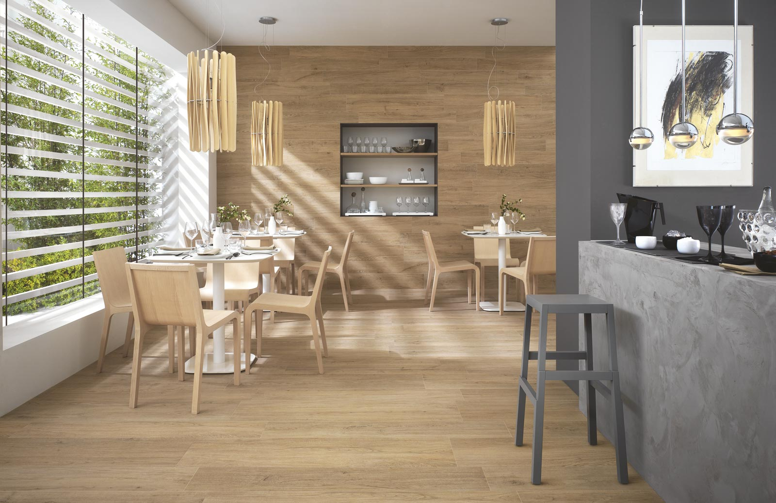 Woodliving collection wood effect stoneware tiles ragno for Salle de bain carrelage imitation parquet