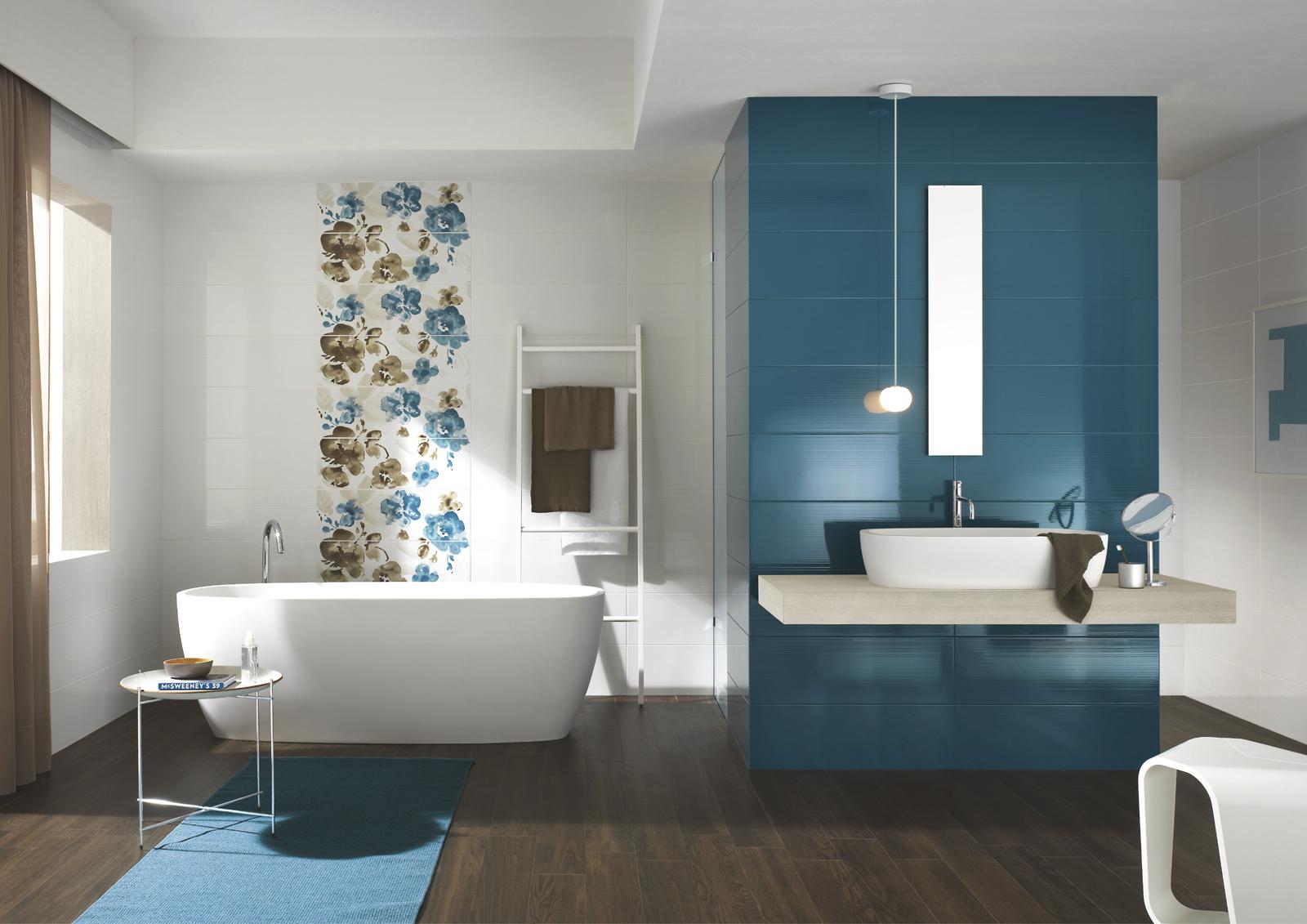 Smart collection coloured tiles for the bathroom ragno for Mattonelle per bagno