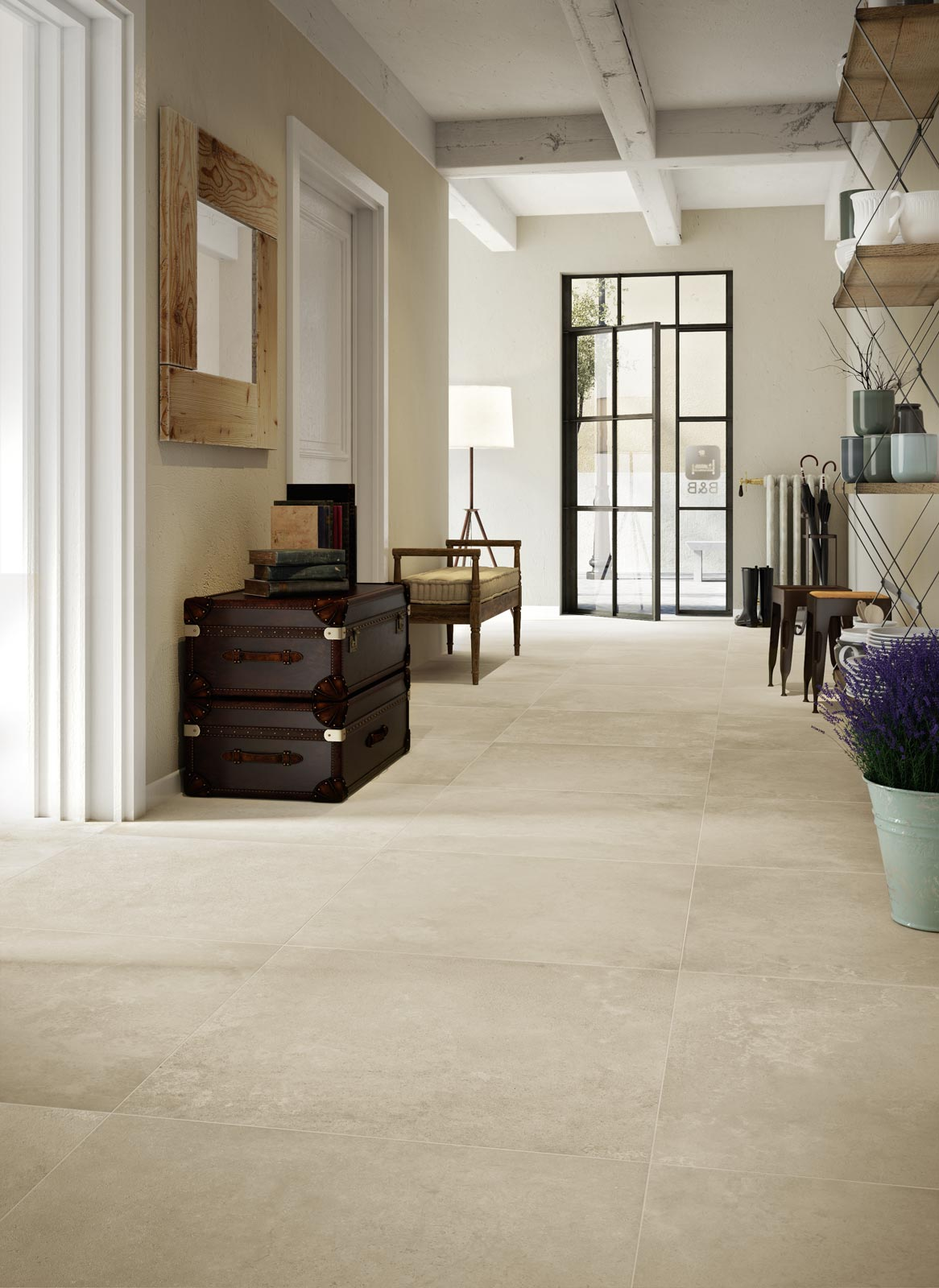 Trace collection porcelain stoneware stone effect ragno for Carrelage marazzi